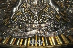 Scarce Victorian 21st. Lancers Officers Tschpka Plate. Post Free