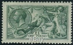 Sg 404 £1 Dull Blue Green. A superb Post Office fresh unmounted mint example