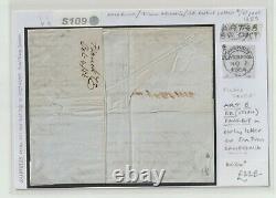 USA Transatlantic Cover 1855 CALIFORNIA ART-5 British Packet Mail Letter S109