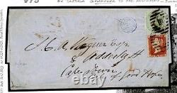 V75 GB AFRICA MAIL 1862 Cover Admiraly GunmakerEL Penny Red PERFORATION ERROR