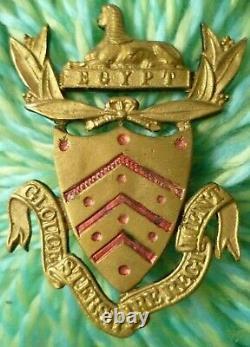 VICTORIAN Gloucestershire Regiment Officers Forage Cap Badge Post 1881 ANTIQUE