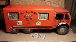 Vintage Mettoy Tin Windup 10 Van Royal Mail Great Britain Very good