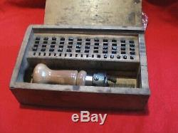 Vintage Post Office Counter Date Stamp Wooden Box Crawley West Sussex