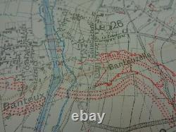 WW1 (1918) INFANTRY TRENCH Map Post-BATTLE of CAMBRAI Trenches (HINDENBURG LINE)
