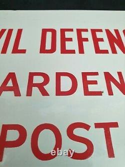 WW-II Hampshire ARP/Civil Defence Warden's Post Enamel Door Sign 1940-1944