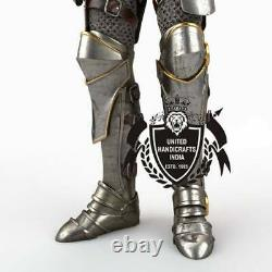 Wearable Medieval Plate Armour Full body Armor Suit With Chain Mail Limited