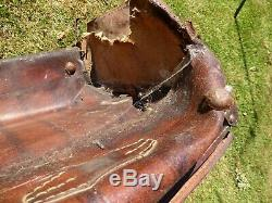 Windrush Ship Wreck Survivor Suitcase Army Post War Hong Kong Leather Amazing