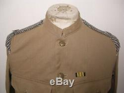 Ww1 Rare Super 5th Dragoon Guards Kd Khaki Tunic Named W Insignia & Chain Mail