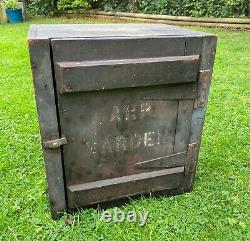 Ww2 Arp Warden Cupboard From Post. Wooden Original Untouched Since War