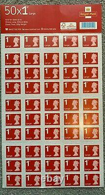 X500 ROYAL MAIL LARGE 1ST CLASS STAMPS (10x sheets of 50 stamps), BARGAIN