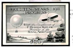 Y49b GB AVIATION First UK Air Mail AERO CLUBAdvert 1911 Card samwells-covers